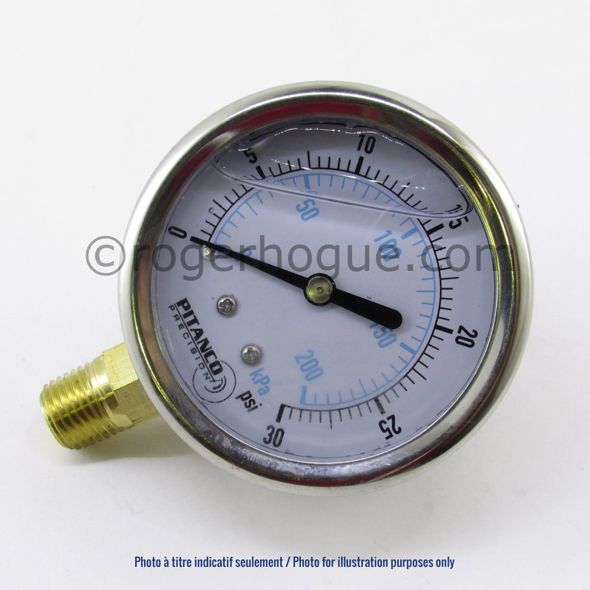 0-15PSI 2.5'' LIQUID FILLED MANOMETER