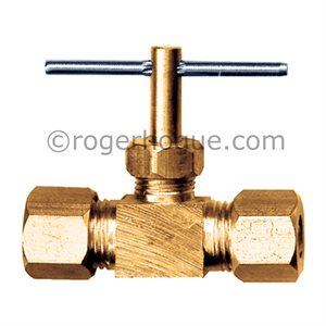 VALVE 1/4 COMPRESSION BRASS